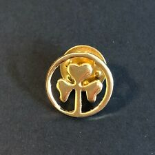 Clover Pin for St Patricks Day Gold Small