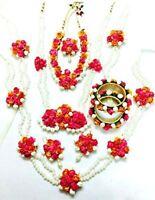 Flower Jewelry Mogra Pearl Mehandi Haldi Indian Handmade Floral Jewelry 10pcs