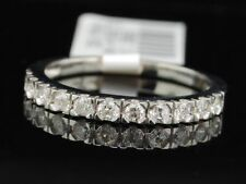 14k White Gold Round Cut Diamond Anniversary Wedding Band Ring 1/3 Ct.