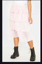 PRETTY LITTLE THING Blush Tulle Frill Layer Midi Skirt   (fj236)