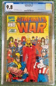 INFINITY WAR #1 CGC 9.8, WP (1992) Wraparound cover. Key issue. New case