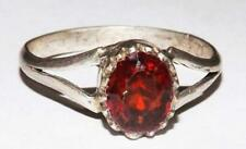 Gomed Hessonite Garnet Gemstone Handmade 925 Silver Ring US size 8.5 #rmc65