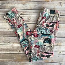 Venice, Italy Travel Pink Women's Leggings OS One Size 2-12 Soft As LLR