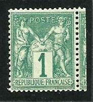 FRANCE N° 61 SAGE 1 C. VERT Neuf** LUXE. Cote 300€. TBC. Signé CALVES. SUP !!!