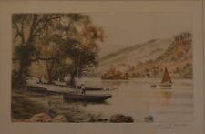 Henry George WALKER (1876-1932) Signed Coloured Landscape Etching