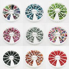 Nail Art Rhinestone Wheel sort Case Round 1500 Acrylic flat back 3mm beads