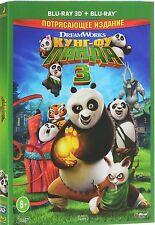 Kung Fu Panda 3 3D/2D (Blu-ray 3d/2D, 2016, English/Russian) RegionFREE