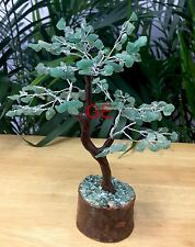 "8"" Green Aventurine Tree Gemstone Crystal Gem Tree Feng Shui Luck Reiki Gift."