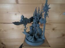 PLASTIC WARHAMMER CHAOS SPACE MARINE TERMINATOR SORCERER BASE PAINTED (544)
