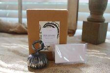NIB Pottery Barn Set of 4 Gourd Pumpkin Metal Place Card Holders Thanksgiving