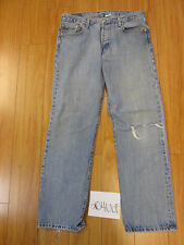 used levi 501 feathered tag 35x32 meas 32x31.5 grunge jean 20406F