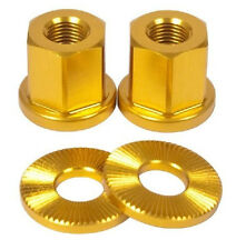 2 x SHADOW CONSPIRACY BMX BIKE BICYCLE AXLE NUTS 3/8 FIT SUBROSA HARO GT SE GOLD