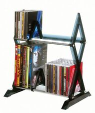 Atlantic Mitsu 64835193 52 Cd/36 Dvd/BluRay/Games 2-Tier Media Rack Smoke