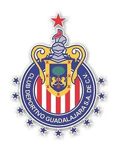 Chivas Guadalajara 2017 Champions 12 Stars Mexico Decal / Sticker Die cut