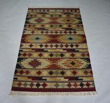 Handmade Wool & Cotton Multi Color Home Decorative 3x5 Feet Area Rug