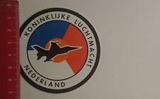 Autocollant/sticker: Koninklijke LUCHTMACHT NEDERLAND (03011797)