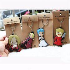 Anime Fullmetal Alchemist Edward Elric 4pcs Set PVC Keychain Collection New
