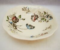 """Johnson Brothers DAY IN JUNE MULTICOLOR Square Soup Bowl(s) 7 1/8"""" x 1 3/4"""" EXC"""
