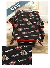 NFL Licensed CARSEAT CANOPY ~ SAN FRANCISCO 49ERS ~ Infant Car Seat Canopy NEW!