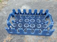 Pepsi Cola Blue Plastic Stackable Drink Crate Carrier Tray Caddy