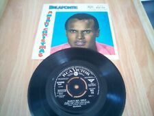 "HARRY BELAFONTE A MERRY CHRISTMAS/MARY'S BOY CHILD 7"" 1957 vgc rare with cover"