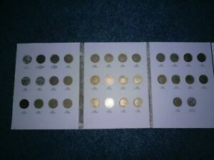Liberty V Nickel Collection 1883-1912 with 30 of 33 Coins in Folder -Nice