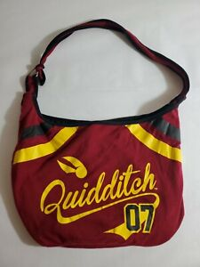 Harry Potter Quidditch Game 07 Varsity School Hobo Tote Bag School Purse Used