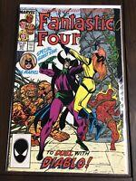 Fantastic Four #307 Duel w/ Diablo! Marvel Comics Group Direct Edition Oct 1987