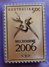 2006 Melbourne Commonwealth Games PURE BRONZE 50 cent stamp ingot! 2,500 mintage
