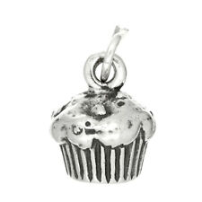 STERLING SILVER DELICIOUS CUPCAKE WITH ICING CHARM / PENDANT