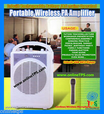 CB0459-Portable Wireless Public Address PA System,Mic,Battery and 220V AC Mains