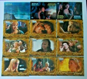 B1-B9, M2, M4 & M5 (12 cards) The Quotable Xena Warrior Princess trading card