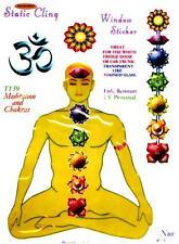 Meditation & Chakras - Static Cling Window Sticker