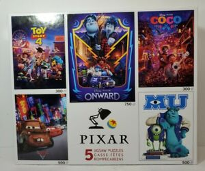 Disney Pixar Jigsaw Puzzles 5-In-1 Toy Story 4 Coco Onward Monsters Cars 2 NEW!