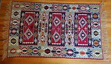 Early 1900's Large Navajo Teec Nos Pos or Turkish Kilim Handwoven Wool Rug NICE