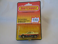 1985 Matchbox #85 Goodyear Pontiac Fiero GT Sports Car MB-2 White 1:56