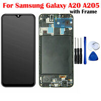 For Samsung Galaxy A20 A205 Screen LCD Display Touch Screen Digitizer with Frame