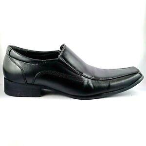 Connor Black Square Toe Dress Shoes Men's Size UK 8, AU/US 9, 26.3 cm