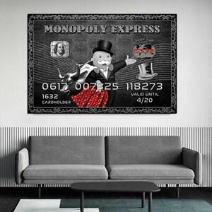 Alec Monopoly Canvas Posters And Prints Vintage Canvas Painting On The Wall Art