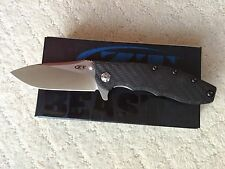 NEW ZT ZERO TOLERANCE 0562CF HINDERER CARBON FIBER HANDLE CPM-20CV STEEL KNIFE