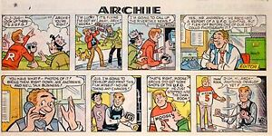 Archie - by Dan DeCarlo - lot of 23 color Sunday comic pages - early 1979
