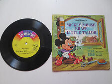 Disneyland Record & Book: Mickey Mouse, Brave Little Tailor  (1968, PB)
