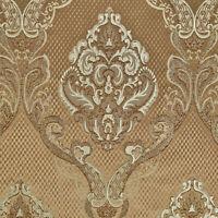 "55"" Wide Ecru Drapery Upholstery Jacquard Damask Fabric Sold by The Yard"