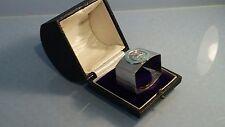 George Beech lodge boxed solid silver & blue enamel masonic napkin ring
