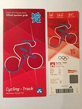 LONDON 2012 TICKET TRACK CYCLING JASON KENNY 06 AUG PLUS SPECTATOR GUIDE *MINT*