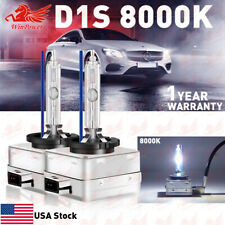 D1S 8000K Blue HID Xenon Headlight Light Bulbs OEM Replacement For BMW Audi VW