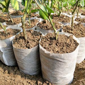 NON WOVEN PLANT GROW BAGS NURSERY BAGS FABRIC POTS ECO-FRIENDLY AERATION X100 C
