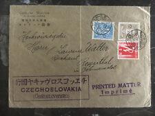 1925 Higata Japan Cover to Czechoslovakia Catholic Missionary