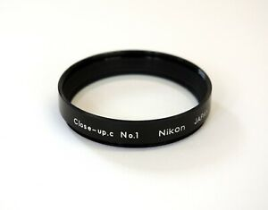Nikon 52mm Close Up Lens no 1. Multi-coated achromat glass. Very Good Condition