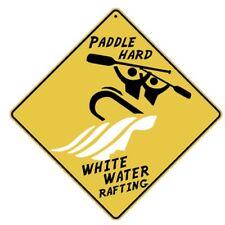 White Water Rafting Sign New 12X12 Metal